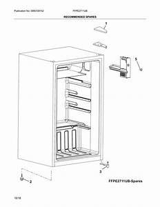 Frigidaire Ffpe2711ub Compact Refrigerator Parts