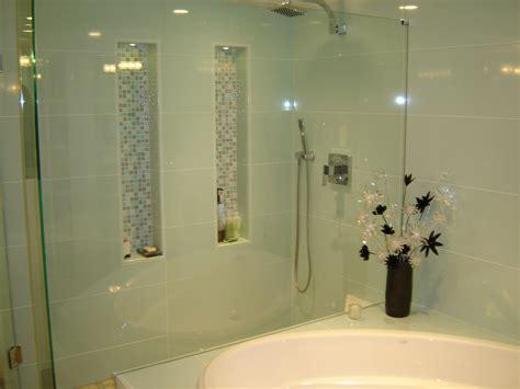 bath shower create simple built  shower shelves