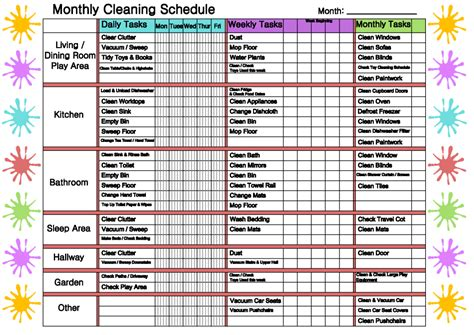 Monthly Cleaning Schedule  Mindingkids. Missing Person Generator. Mentorship Program Template. Plumbing Business Cards. Save The Date Graduation. Menu Covers 8 5 X 14. Free Western Invitation Template. Illinois State University Graduation. Meeting Minutes Template Excel