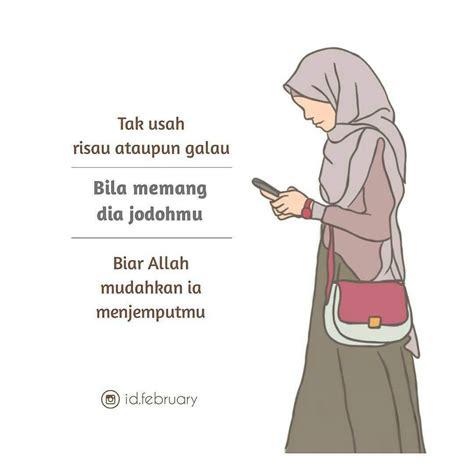 gambar wanita berhijab kartun muslimah  samping