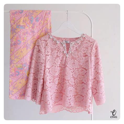 topn cream kebaya simple batik fashion kebaya dress