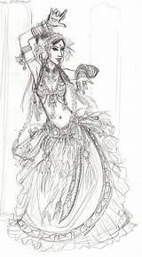 Dance Sketch Belly Dancing Coloring Pages Drawings Drawing Dancer Outfits Dancers Commission Tattoo Slow Ballet sketch template