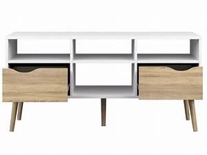 Tv Möbel Lowboard Weiß : lowboard oslo tv m bel fernsehm bel wei eiche struktur sch ner wohnen tv m bel ~ Indierocktalk.com Haus und Dekorationen