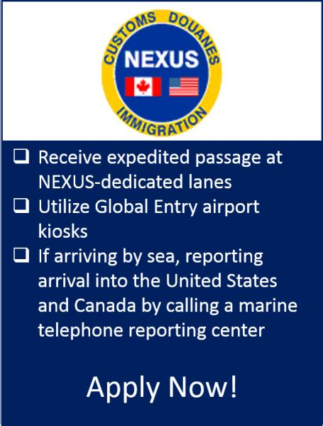nexus  customs  border protection