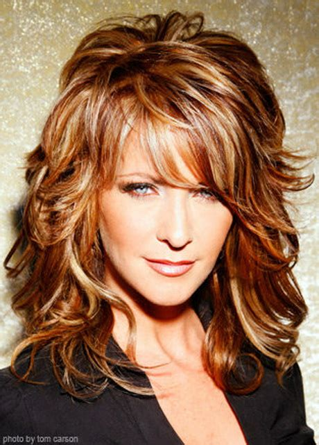 long curly layered hairstyles with bangs layered long haircuts with side bangs