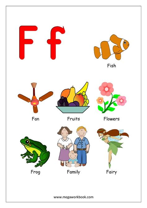 objects starting  alphabet  english worksheets