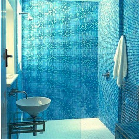 blue mosaic bathroom tiles ideas  pictures