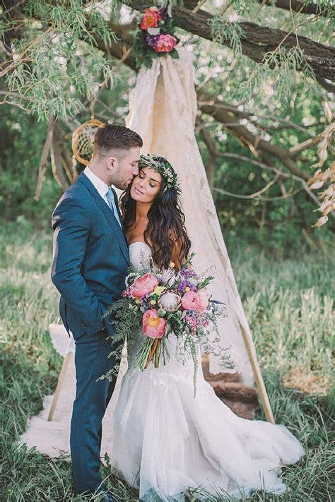 Bohemian Bridal Inspiration By Sharon Litchfield
