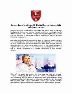 ppt get career opportunities with clinical research With clinical research associate training