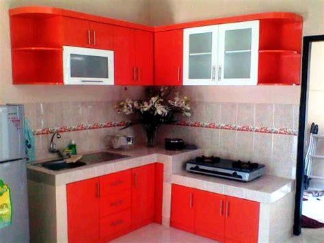 desain dapur warna pink  cantik modern