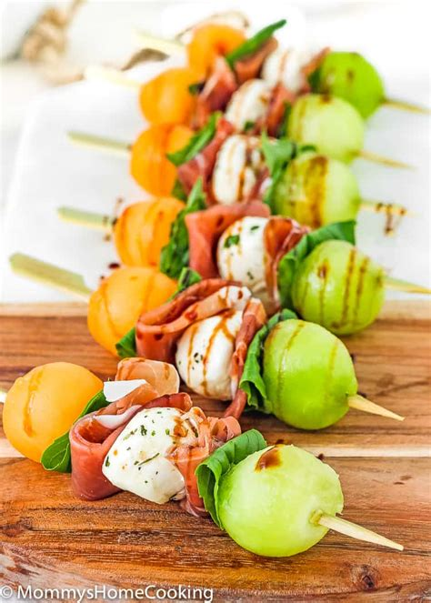 prosciutto melon skewers mommys home cooking