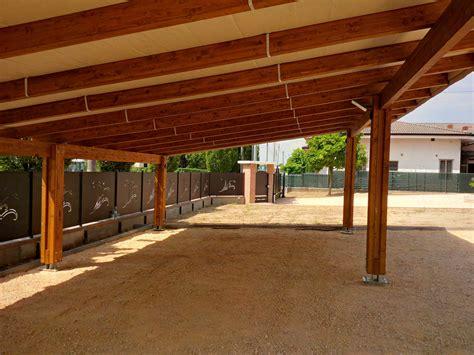 tettoia legno auto carport triplo in legno lamellare con antigrandine soltis