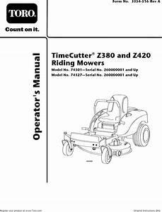 Toro 74327  260000001 260019999  User Manual Riding Mower