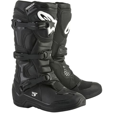 alpinestar tech 3 motocross alpinestars 2018 tech 3 black boots at mxstore
