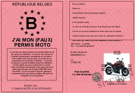 mon permis moto j ai mon faux permis moto