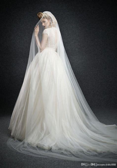 2015 Long Wedding Dress Bridal Veil Delicate Veils Royal