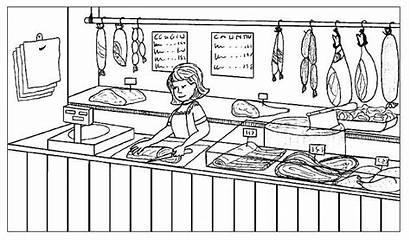 Meat Carniceria Coloring Google Sales Dibujo Buscar