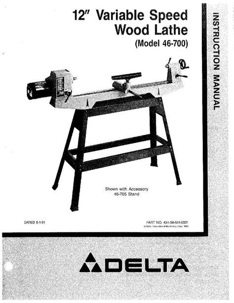 delta    variable speed wood lathe instruction
