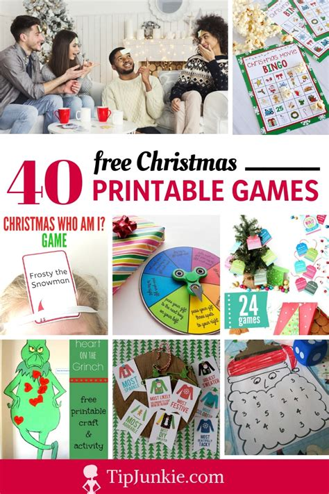 printable christmas party games tip junkie
