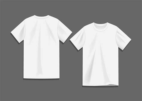 White T Shirt Template White Blank T Shirt Template Vector Free Vector