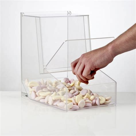 pick and mix gravity feed dispenser sweet dispensers