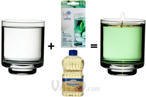 Create Colorful Candles With Water