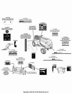 Mtd 13ax795t004  2011  Parts Diagram For Label Map Mtd