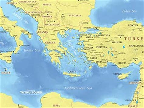 tutku tours mediterranean maps map   eastern