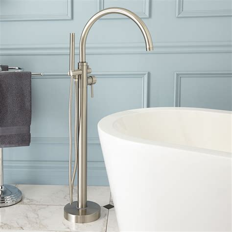 keswick freestanding thermostatic tub faucet  hand