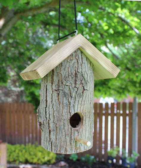 log birdhouse woodworking plan forest street designs