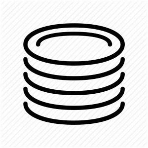 Dish, stacked icon | Icon search engine