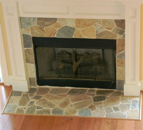 light color stone fireplace traditional living room