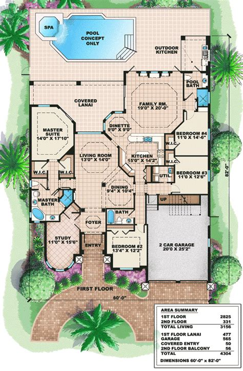 mediterranean style floor plans mediterranean house plan with bonus space 66236we