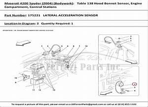 Ferrari Part Number 175221 Lateral Acceleration Sensor