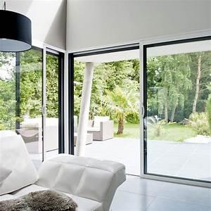 baie vitree aluminium blanc brico premium h215 x l240 cm With porte d entrée alu avec carrelage salle de bain blanc mat