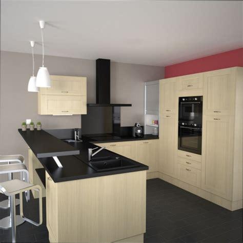 cuisine bois clair cuisine bois couleur mur cuisine avec meuble bois clair