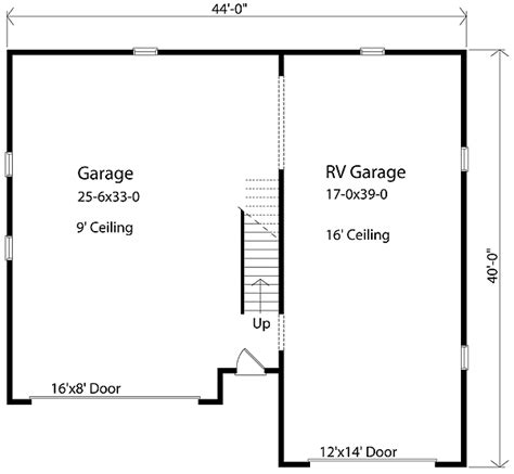 garage floor plan rv garage plan 2238sl cad available narrow lot pdf