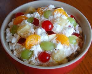 Ambrosia Salad with Fruit Cocktail
