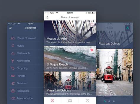 creative travel app designs   inspiration hongkiat