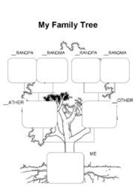 family tree esl worksheet  krisgandara