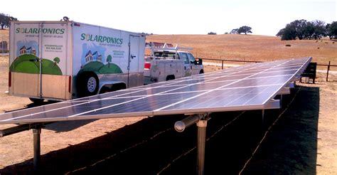 solar powered water gound rack w solarponics install truck solarponics 5595