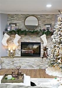 Diy, Stacked, Stone, Fireplace, Where, There, Was, None, From, Thrifty, Decor, Chick
