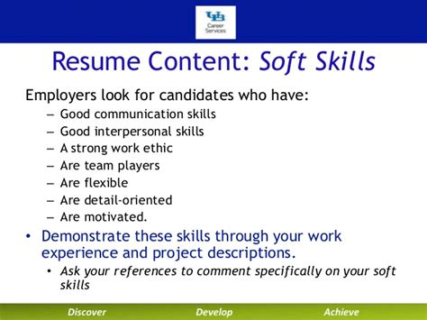 Demonstrate Communication Skills In Resume by Writing Your Technical Resume