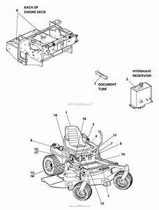 Bunton  Bobcat  Ryan 442233 Ztm 225 25hp Kaw W  61 U0026quot  Side Discharge Parts Diagram For Decals