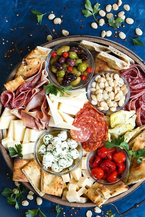 Antipasto Appetizer Cheese Board | Recipe | Party food