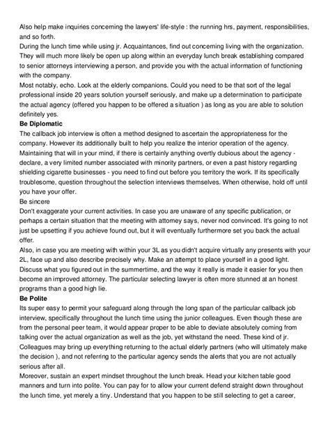 Job Interview Information And Facts Regarding Legislation