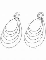Coloring Diamond Pages Earring Earrings Library Popular Clip sketch template