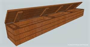 Building A Deck Bench by Woodwork Deck Bench Storage Build Pdf Plans
