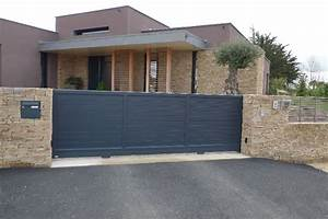 Portail Coulissant Bricoman : cloture et portail portail coulissant 3m50 carlier ~ Dallasstarsshop.com Idées de Décoration