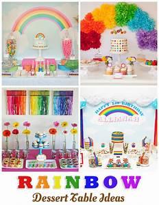 10 Gorgeous Rainbow Dessert Table Ideas - One Charming Day